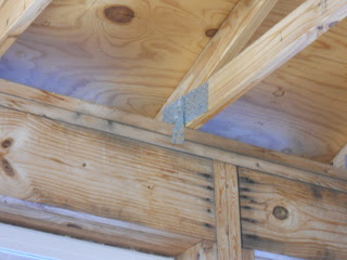 Roof Truss Hurricane Clips to Interior Wall
