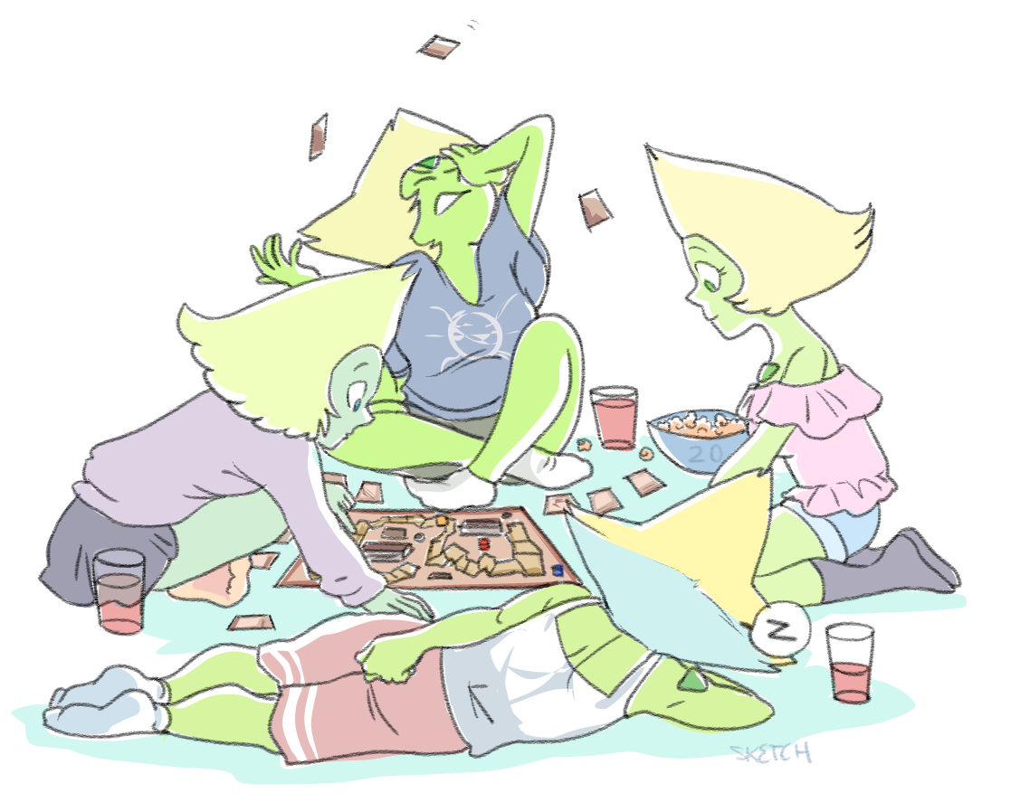 month of Peridot - day 20 perisisters slumber party (inspired by a board game called Munchkin) ;)