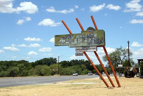 trailer park neon sign