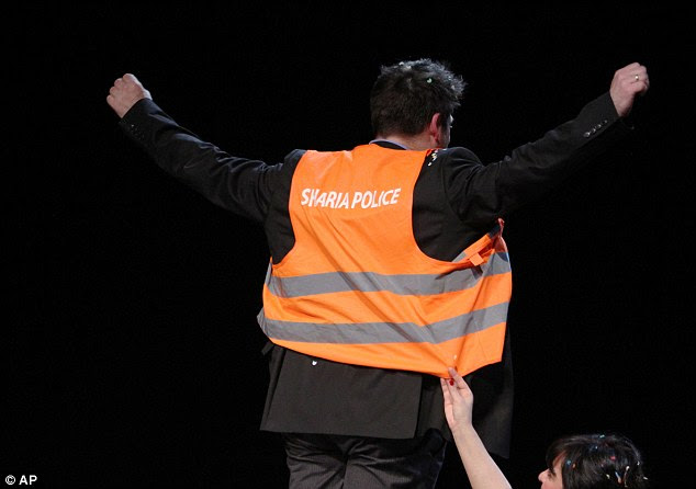The court ruled the vests, like the one shown in this image, did not break laws governing wearing political uniforms