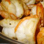 filetes de peixe enrolados com camarao