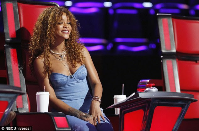 Loving her job: The Diamonds singer was clearly enjoying her time on the show, as she sat with a beaming smile on her fact throughout
