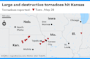 Dangerous tornado touches down in Kansas City; severe weather moves east into Missouri