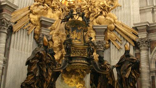 Cátedra de San Pedro en el Vaticano