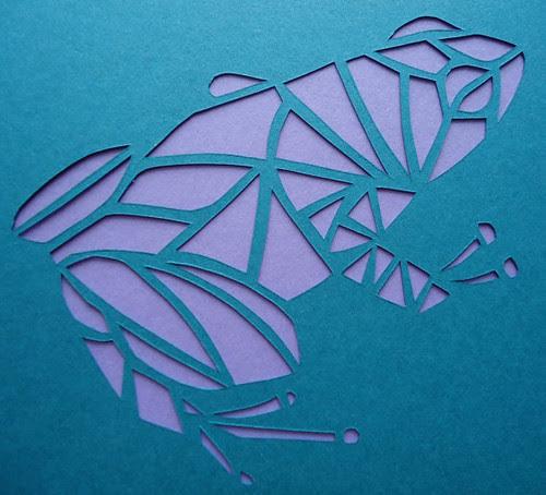 papercut frog card