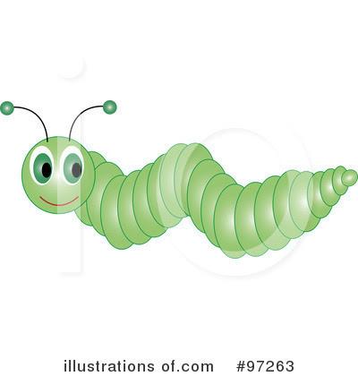 black and white caterpillar clip art. Caterpillar Clipart #97263 by