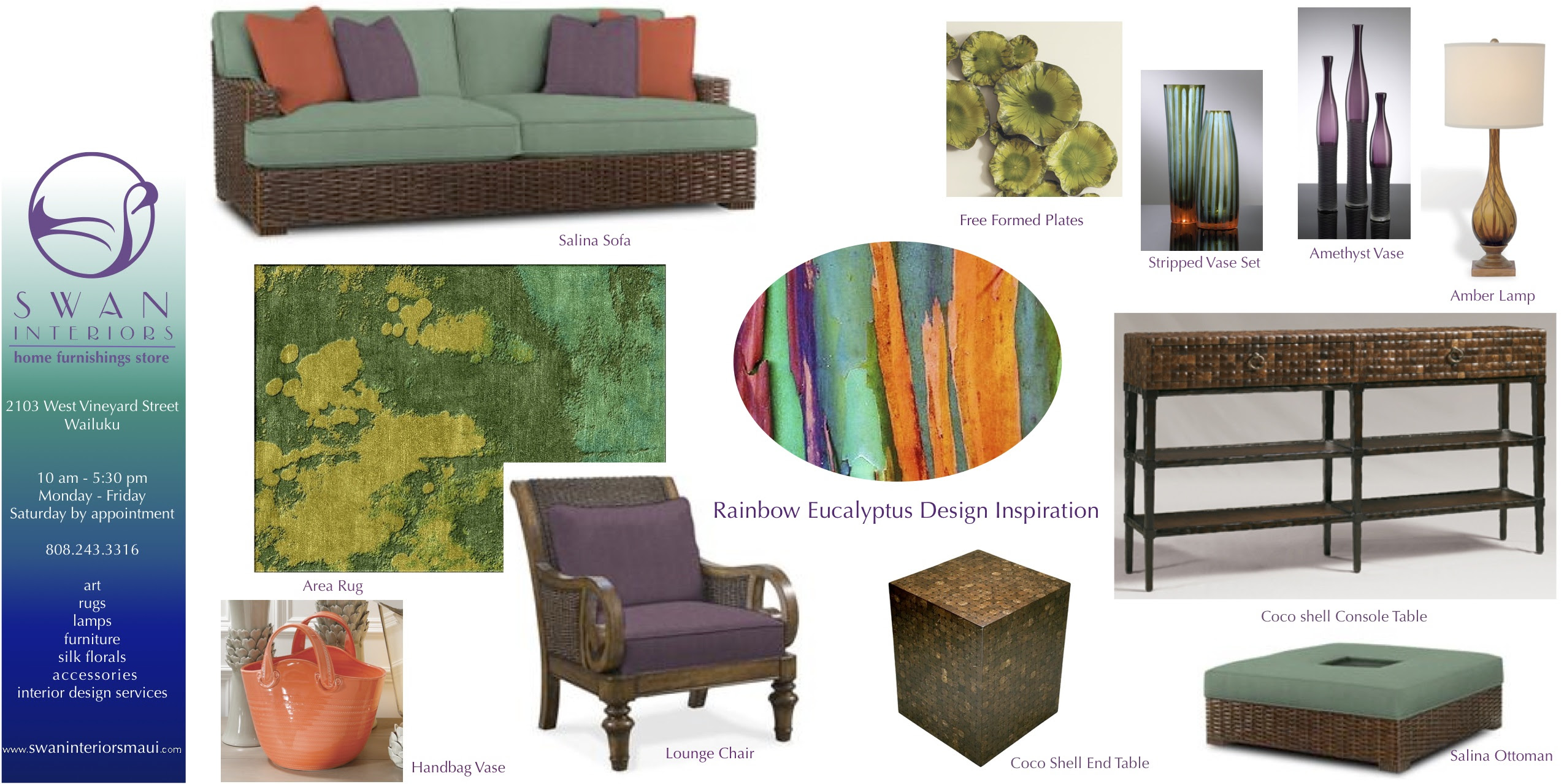 Rainbow Eucalyptus Inspiration Pinterest