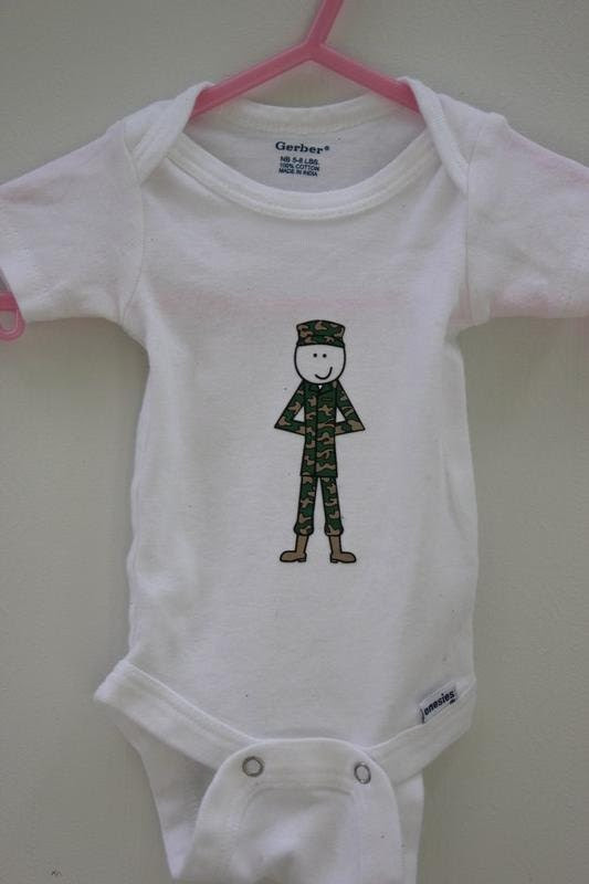 Newborn Military dad body suit-50% off labor day sale