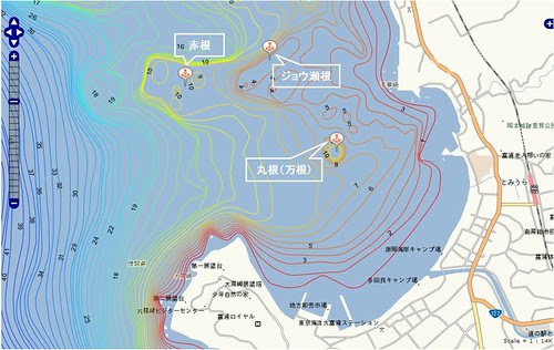 釣りポイント(千葉県、房総半島、富浦)