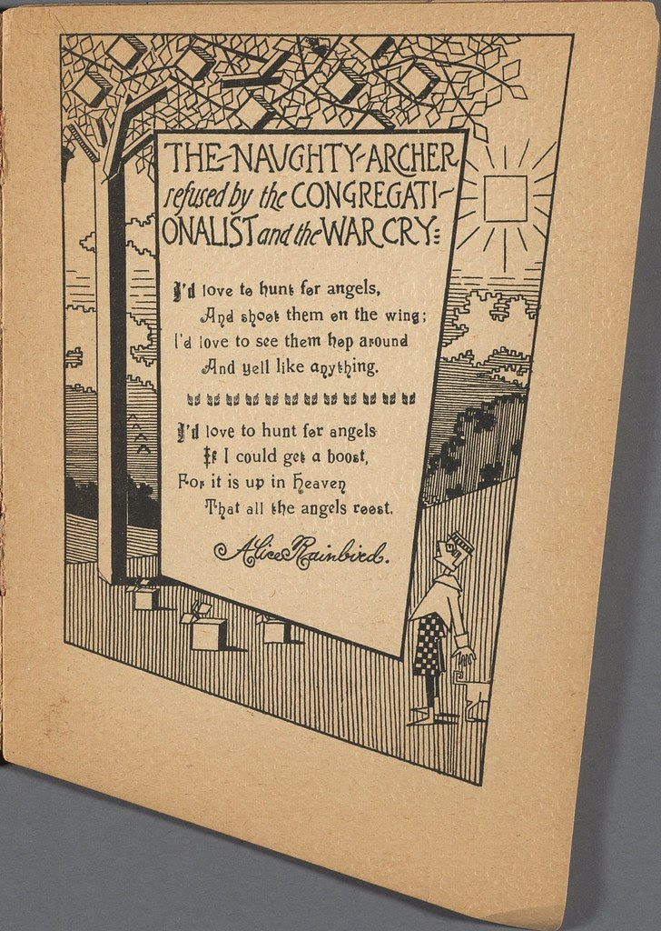 framed poem over stylised background rural scene