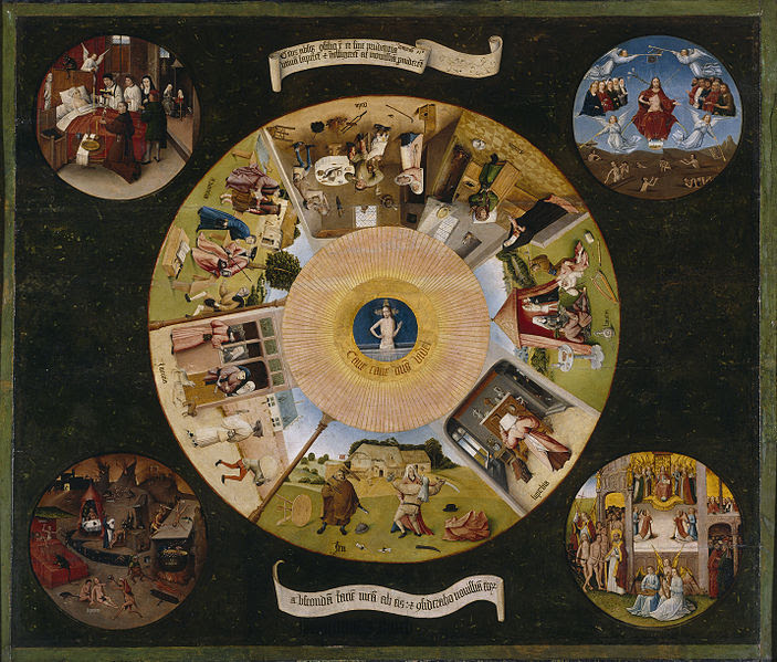 """The Seven Deadly Sins and the Four Last Things"" by Hieronymus Bosch"