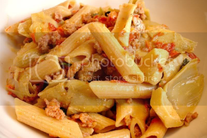 whole Wheat Penne with Artichokes