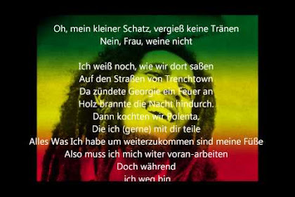Bob Marley No Woman No Cry Letra