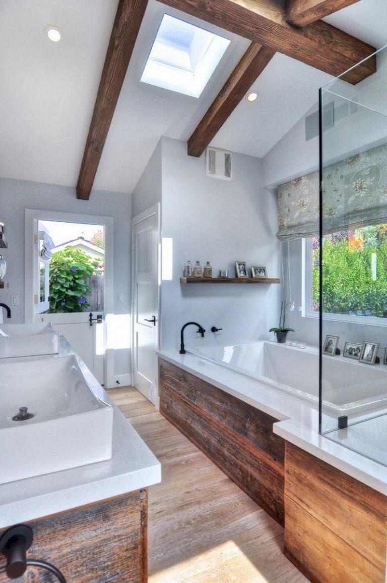 30+ Beautiful Coastral Nautical Bathroom Decor Ideas ...