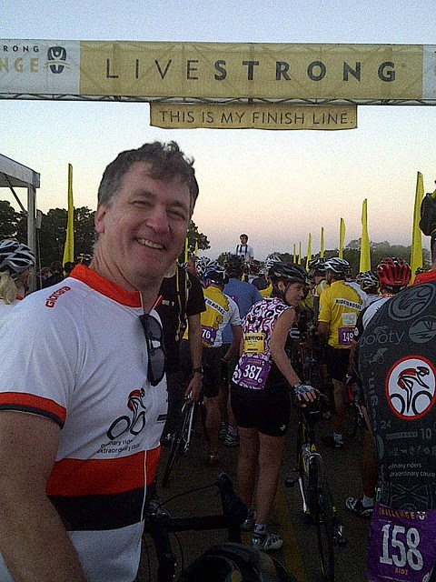 "Me, LiveStrong ""Ride for the Roses"""