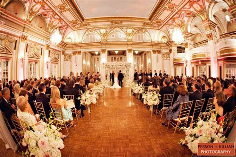 A beautiful wedding ceremony in the Grand Ballroom at The