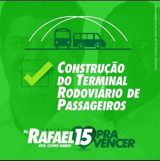Direto de Afrânio: Rafael Cavalcanti não constrói Terminal Rodoviário de Passageiros prometido na campanha de 2016