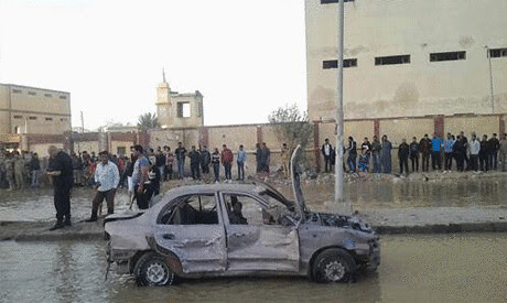 A blast outside the Central Security Forces headquarters in Suez, Egypt took place on January 25, 2014. Violence has marked the third anniversary of the uprising in 2011. by Pan-African News Wire File Photos