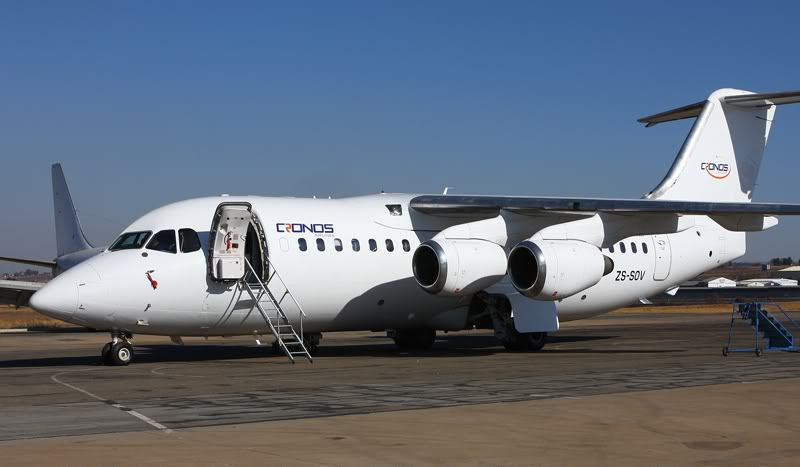 Cronos Airlines' BAe 146 in Johannesburg