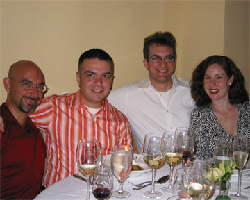 Self, Chris, Alex, and Lila at L'Ecole, August 2005