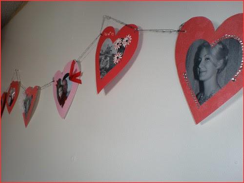 Homemade Valentine Garland