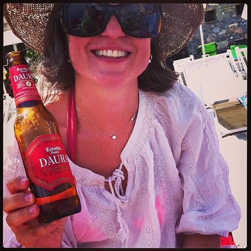 Happy with gluten free beer and pizza :) Felice con pizza e birra senza glutine :) @fancy1972