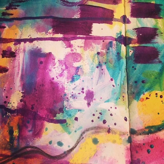 Paint, colour, splatter, yum.