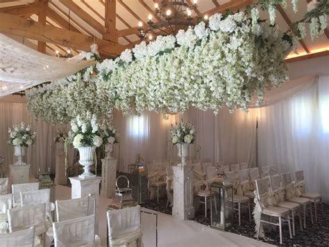 Hanging wisteria wedding aisle   Margaret Mason Florist