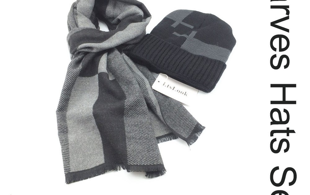 41bbfa917b0c3 Go2Buy  Brand 2 pieces sets Winter Hat Scarf Sets for men Scarf High  Quality Scarves Boy Knitted Beanies Snow Cap Christmas gifts BF-403