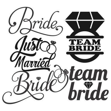 Team Bride Wedding Svg Cuttable Designs