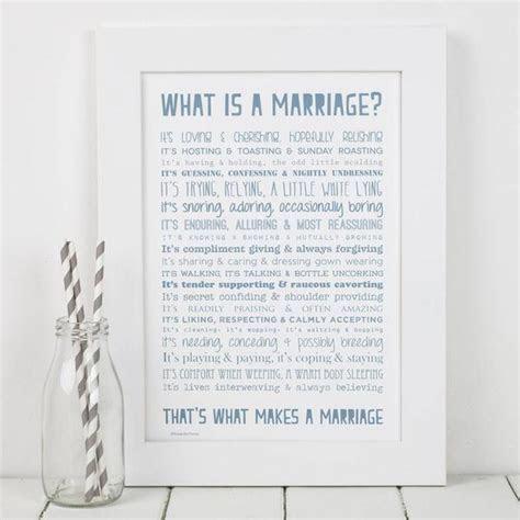 'What Is Marriage?' Poem Typographic Print ? Bespoke Verse