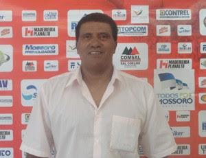 Técnico Samuel Cândido é apresentado pelo Potiguar de Mossoró (Foto: Divulgação/Potiguar de Mossoró)