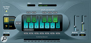 A lengthy chain of plug‑ins was used to process the lead vocal, including Logic's Pitch Correction, Exciter and Tape Delay.