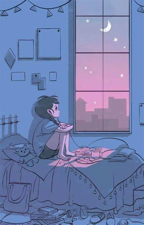 girl    window  listening