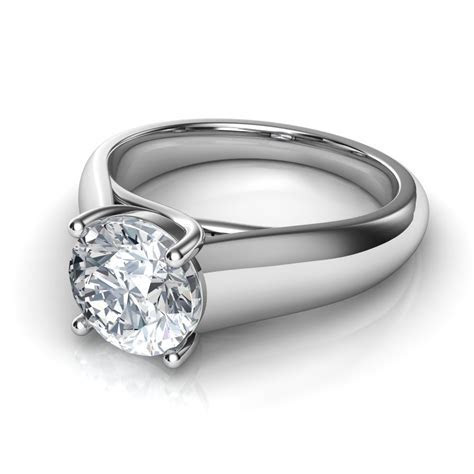 Lucida Wide Band Solitaire Diamond Engagement Ring Natalie
