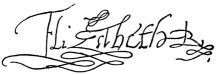 Signature of Queen Elizabeth I