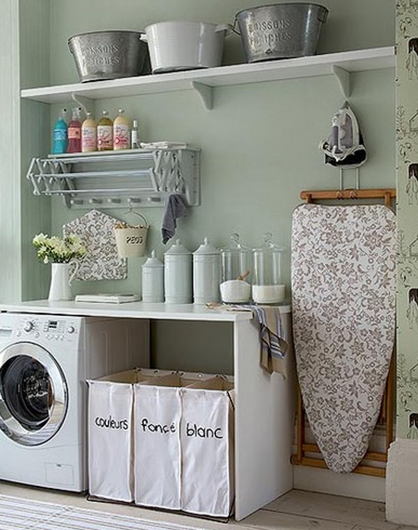 20 Small Laundry Room Ideas : White and Clean Solutions ...