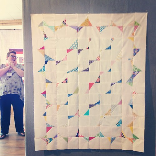Stitch and flip quilt from Saturday's PNW meet-up. I spy @2ndavestudio!