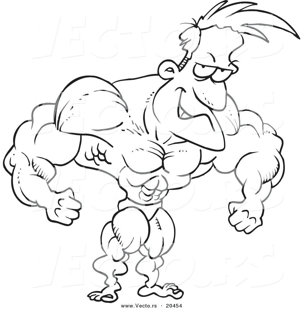Muscle Coloring Pages at GetColorings.com | Free printable ...