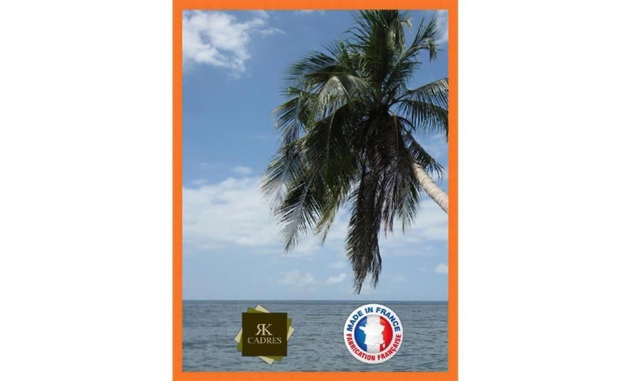 Cadre Photo Mural 50x70 50 X 70 Cadre Orange 2 Cm De Largeur Cadre En Bois