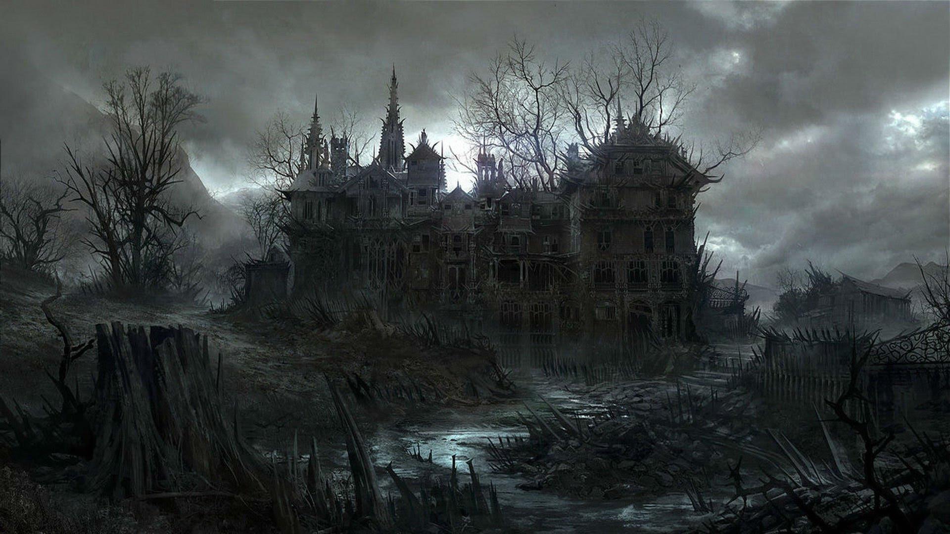 Resultado de imagem para halloween mansion