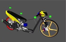Sketsa Motor Mio