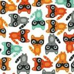 woodland pals, woodland animals, racoon fabric, the intrepid thread