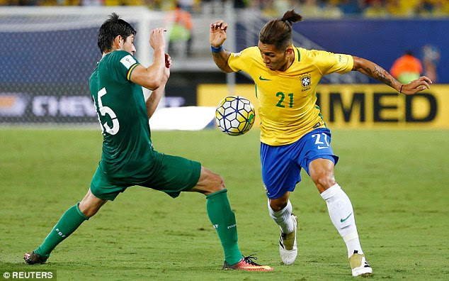 Liverpool playmaker Roberto Firmino came off the bench to score a late fifth for Brazil