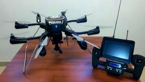 Metrocóptero. El dron que opera la Policía Metropolitana en la Ciudad para intervenir en situaciones de alto riesgo. (GCBA)