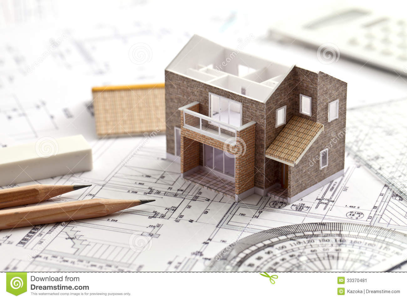 House, Design, Drawing Stock Image  Image: 33370481