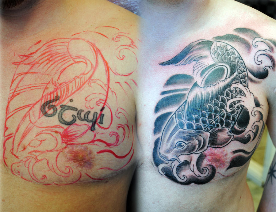 Pictures Of Koi Tattoo Cover Up Kidskunstinfo