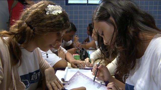 Estudantes de escolas públicas vão fazer a Obmep (Foto: Reprodução/TV Globo)
