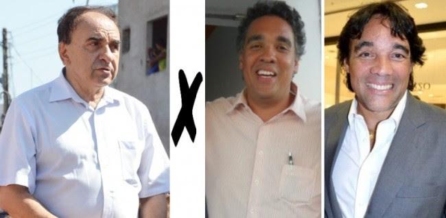 Prefeito Sebastião Madeira e os irmãos Lobão: Luciano e Edinho