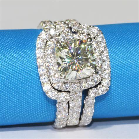 3 CT Center NSCD SONA SIMULATED Diamond Cushion Cut